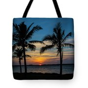 Sunset In Key West Tote Bag
