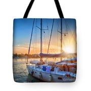 Sunset In Kos Tote Bag