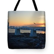 Sunset In Maine Tote Bag