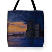 Sunset In New York City Tote Bag