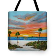 Sunset In Paradise Tote Bag by Lloyd Dobson