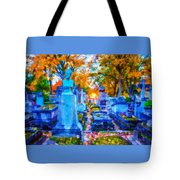 Sunset In Pere Lachaise Abstraction Tote Bag