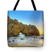 Sunset In Pfeiffer Beach Tote Bag