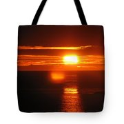 Sunset In Reykjavik Tote Bag