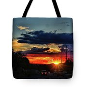 Sunset In Santa Fe Tote Bag