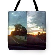 Sunset In Sequence Tote Bag