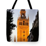Sunset In Seville - A View Of The Giralda Tote Bag