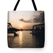 Sunset In Superior Wi Tote Bag
