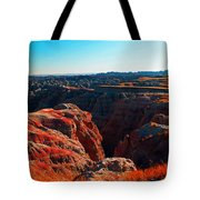 Sunset In The Badlands Tote Bag