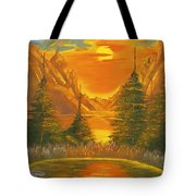 Sunset In The Canyon 1 Tote Bag