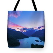 Sunset In The Diablo Lake, Wa Tote Bag
