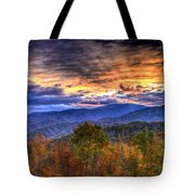 Sunset In The Smokies Tote Bag
