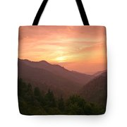 Sunset In The Smokies. Tote Bag