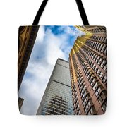 Sunset In The Urban Canyon Tote Bag