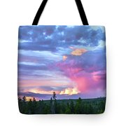 Sunset In Yellowstone Tote Bag