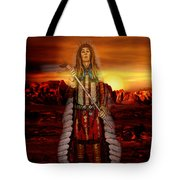 Sunset Indian Chief Tote Bag