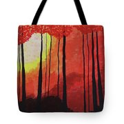 Sunset Into The Forest Tote Bag