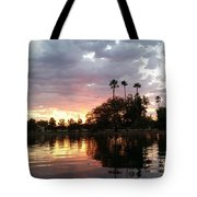 Sunset Island In Chaparral Lake Horizontal  Tote Bag
