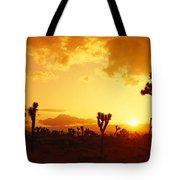 Sunset, Joshua Tree Park, California Tote Bag