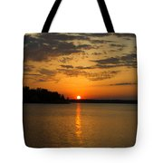 Sunset Lake Pat Mayse From Sanders Cove Tote Bag