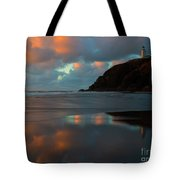 Sunset Light Reflections Tote Bag