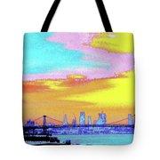 Sunset Lower Manhattan 2c5 Tote Bag