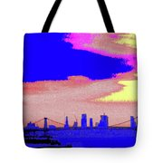 Sunset Lower Manhattan 2c7 Tote Bag