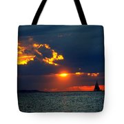 Sunset Montauk Ny Tote Bag