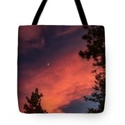 Sunset - Moonrise Tote Bag