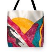 Sunset Mountains Tote Bag