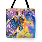 Sunset Mustang Tote Bag