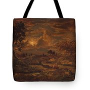 Sunset Near Arbonne , Theodore Rousseau Tote Bag
