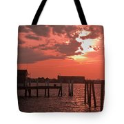 Sunset Newport Rhode Island Tote Bag