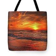 Sunset Ocean Dance Tote Bag by Harry Warrick