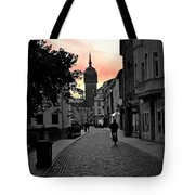 Sunset Of Castle Church Tote Bag