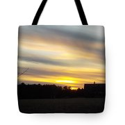 Sunset Of The Farm Tote Bag