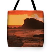 Sunset On A Rocky Coast Tote Bag