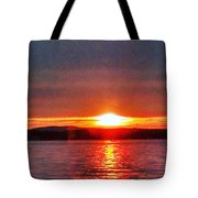 Sunset On A Yacht  Tote Bag