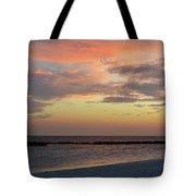 Sunset On An Idyllic Island In Maldives Tote Bag