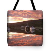 Sunset On Caledonian Canal Tote Bag