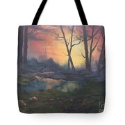 Sunset On Cannock Chase  Tote Bag