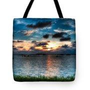 Sunset On Cedar Key Tote Bag