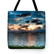 Sunset On Cedar Key Tote Bag