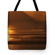 Sunset On Coast Of North Wales Tote Bag