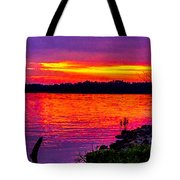 Sunset On Crab Orchard Tote Bag