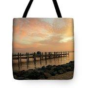 Sunset On Dewey Bay Tote Bag