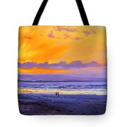 Sunset On Enniscrone Beach County Sligo Tote Bag