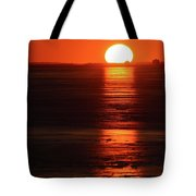 Sunset On February 26-2018 Over Barrie  Tote Bag