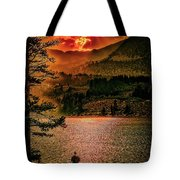 Sunset On Fire Tote Bag