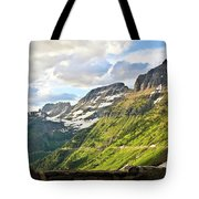 Sunset On Going To The Sun Road Tote Bag